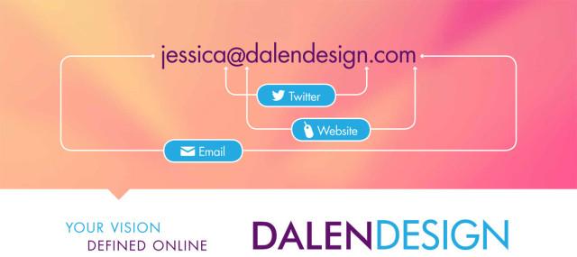 email twitter dalen web design