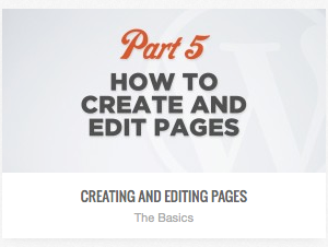 video tutorial on editing wordpress page