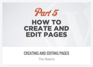video tutorial on editing wordpress page