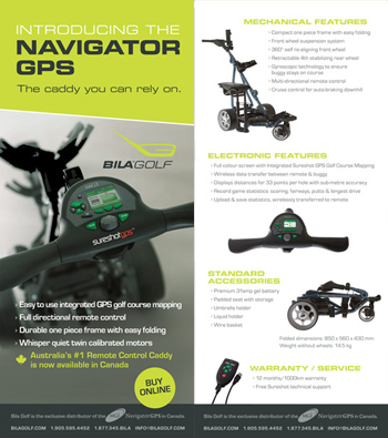 brochure design for golf carts