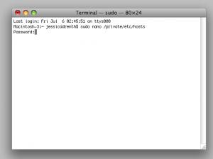 edit terminal host file on mac
