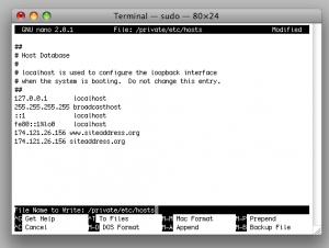 add site to mac terminal