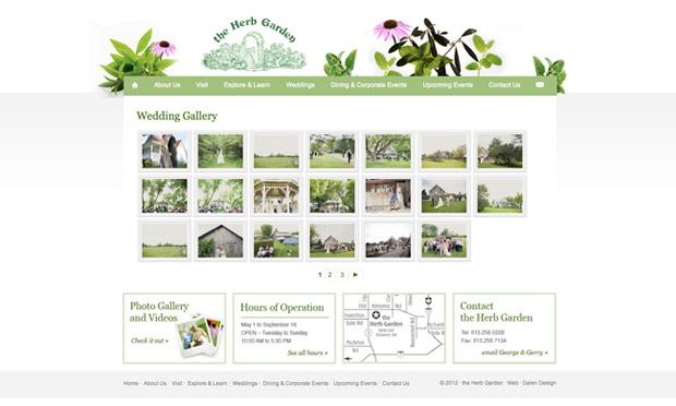 herb garden custom wordpress design