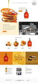 maple syrup farm web design