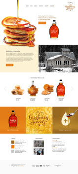 maple sugar farm website design