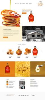 maple sugar farm website design