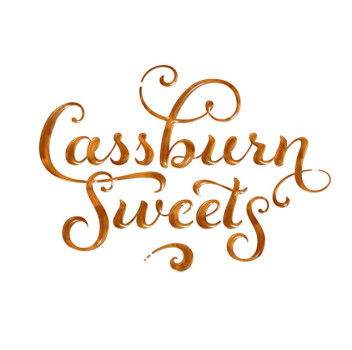cassburn sweets maple syrup logo treatment