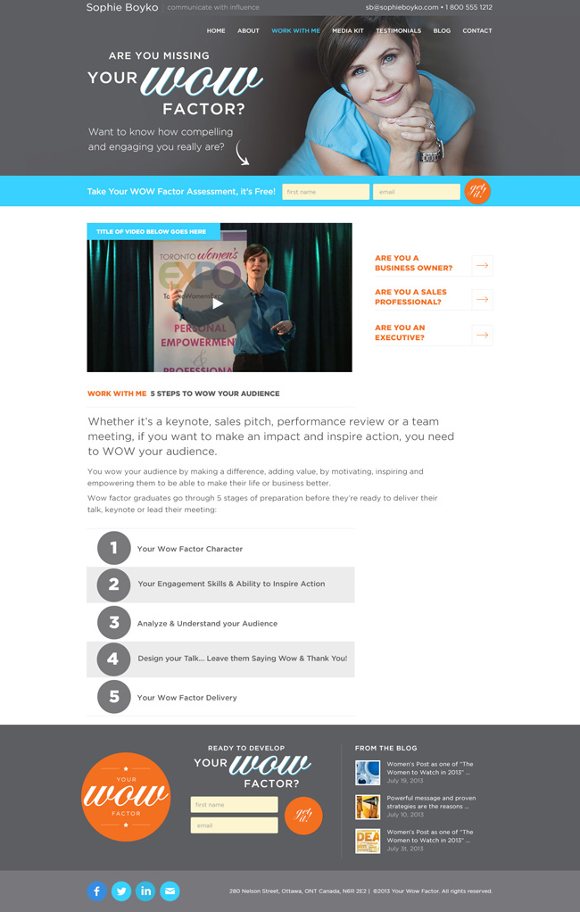 inner page web design wow factor