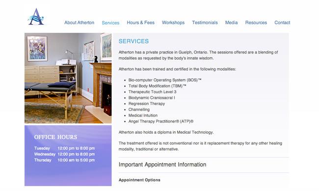 atherton drenth website design