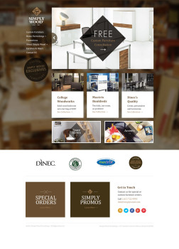 simply wood website design company