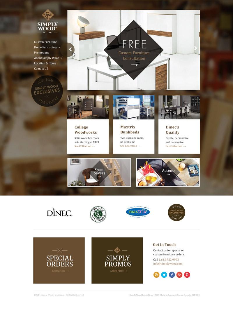 wood furniture business web design