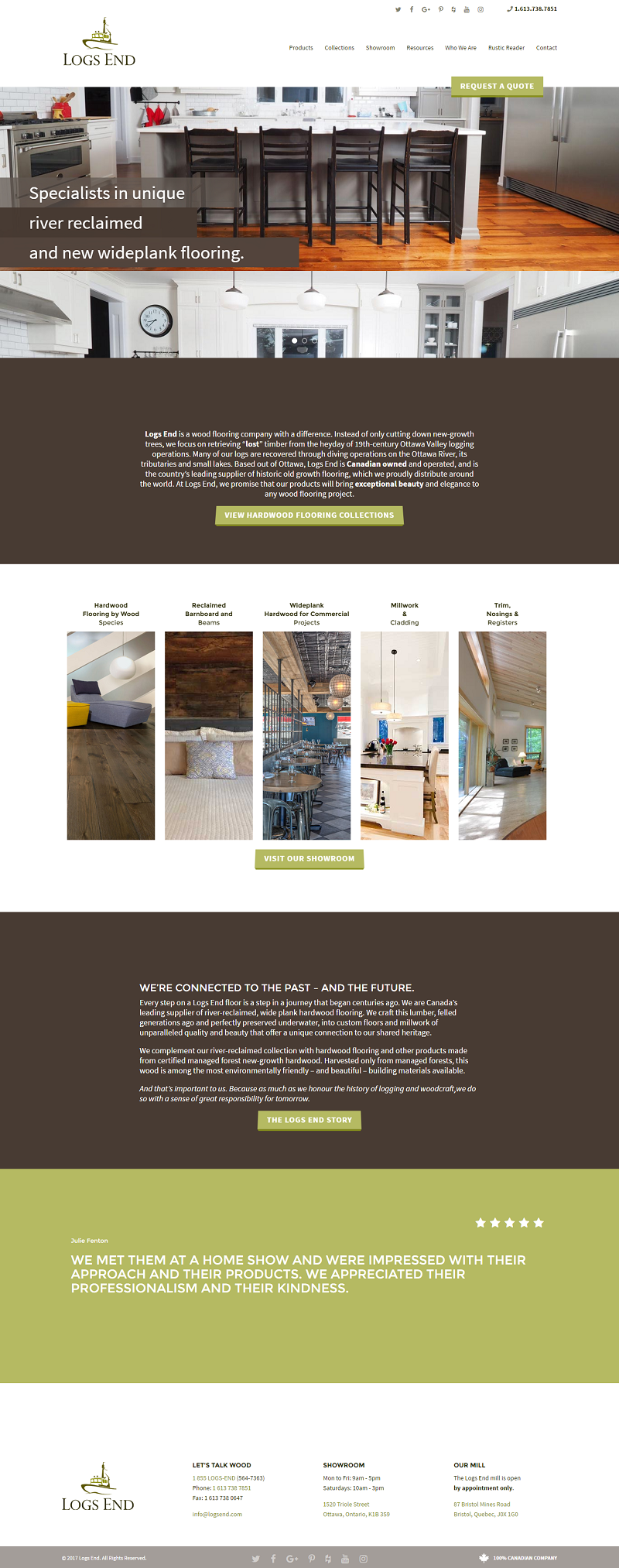 wood furniture business web design
