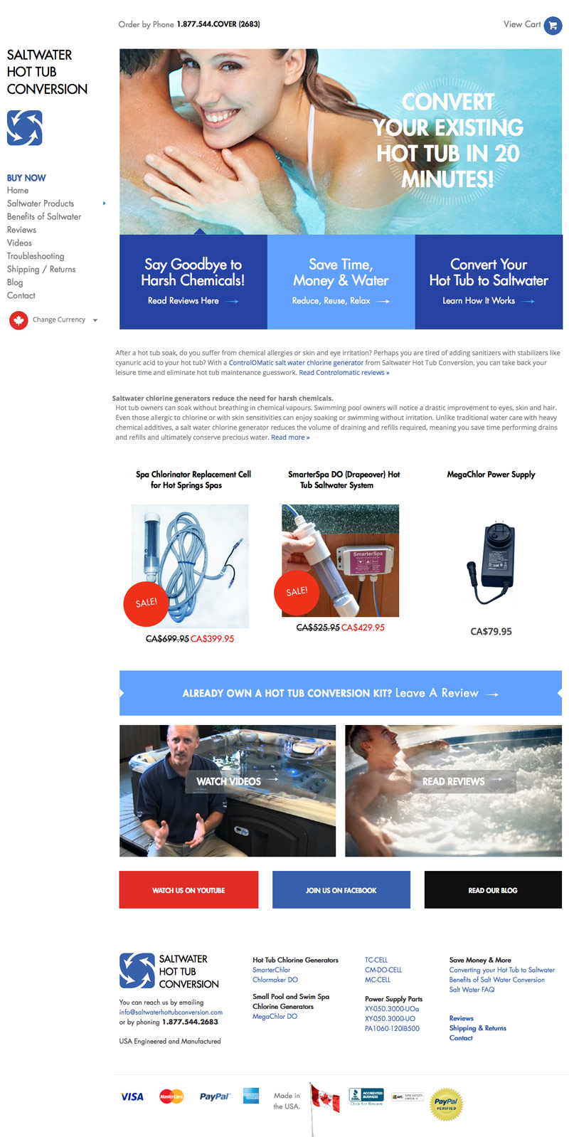 website design for hot tub companies